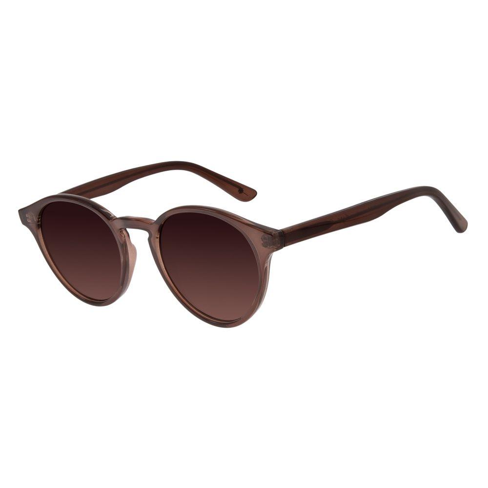 Óculos de Sol Unissex Água de Coco Redondo Marrom .CL.2969-5702