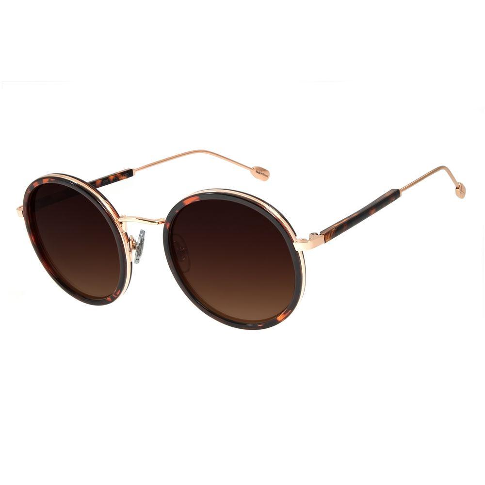 Óculos de Sol Feminino Água de Coco Redondo Classic Tartaruga OC.CL.2978-5706