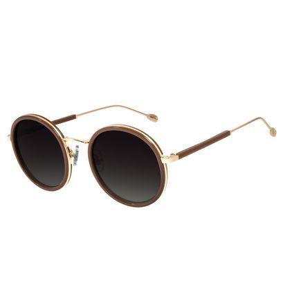 Óculos de Sol Feminino Água de Coco Redondo Classic Caramelo OC.CL.2978-8203