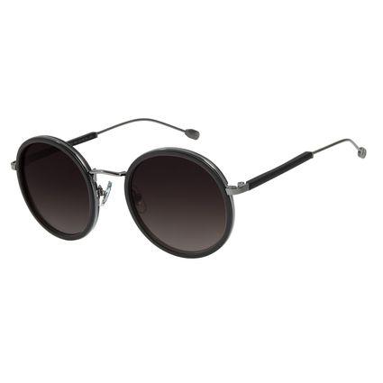 Óculos de Sol Feminino Água de Coco Redondo Classic Preto OC.CL.2978-2001