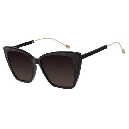 Óculos de Sol Feminino Água de Coco Gatinho Preto OC.CL.2980-2001
