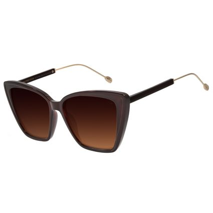 Óculos de Sol Feminino Água de Coco Gatinho Marrom OC.CL.2980-5702