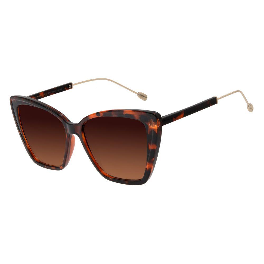 Óculos de Sol Feminino Água de Coco Gatinho Tartaruga OC.CL.2980-5706
