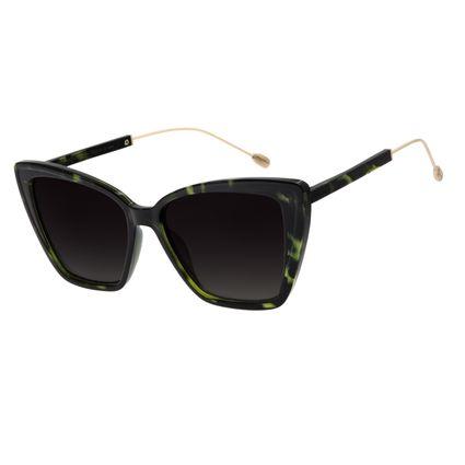 Óculos de Sol Feminino Água de Coco Gatinho Tartaruga Verde OC.CL.2980-8306