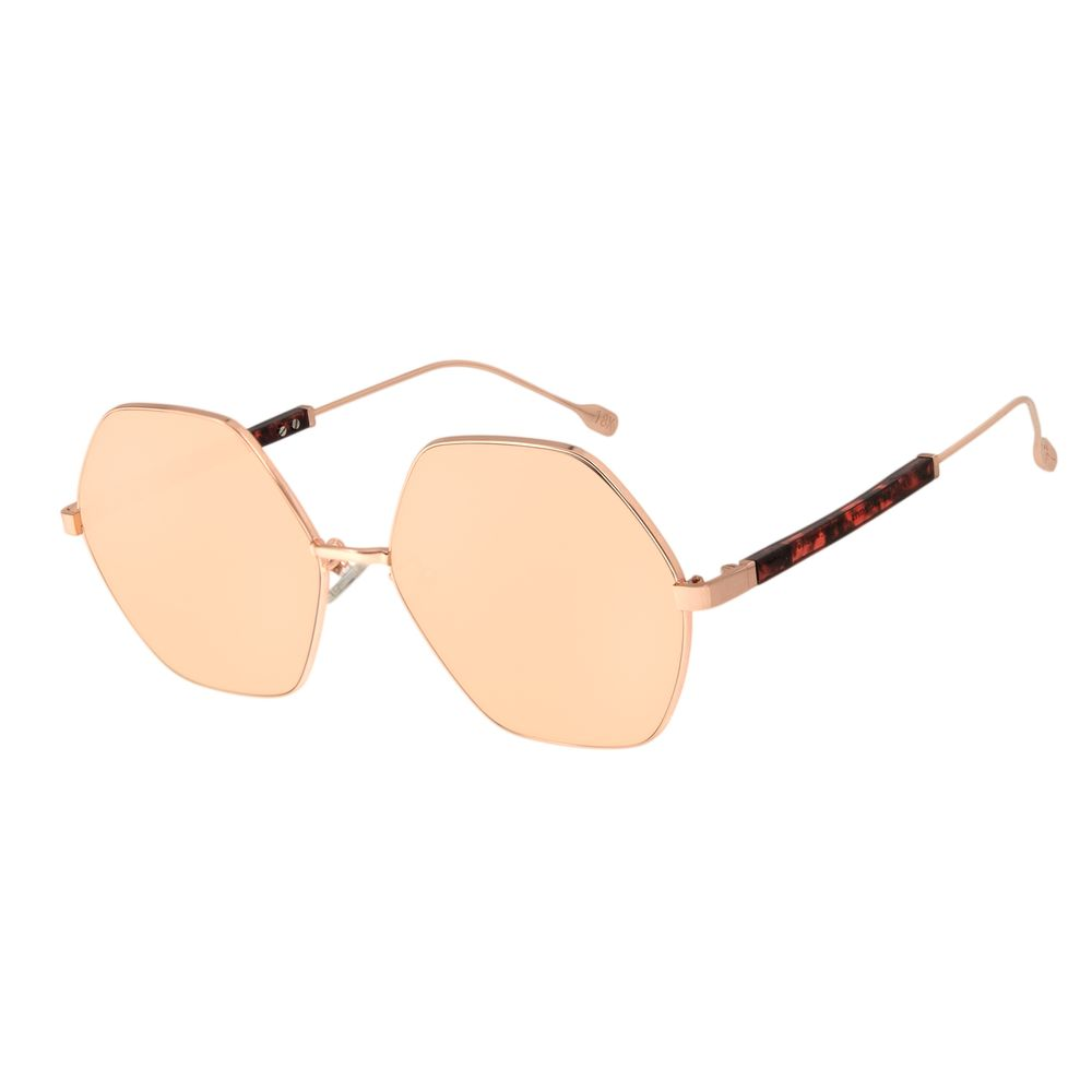 Óculos de Sol Feminino Água de Coco Banhado A Ouro Hexagonal Rosê OC.MT.2805-9595