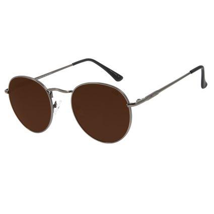 Óculos de Sol Unissex Chilli Beans Redondo Metal Ônix OC.MT.2812-0222