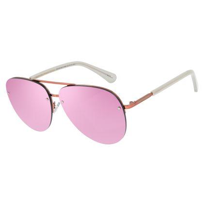 Óculos de Sol Unissex Chilli Beans Flat Aviador Rosê OC.MT.2813-9595