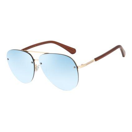 Óculos de Sol Unissex Chilli Beans Flat Aviador Espelhado OC.MT.2813-9121