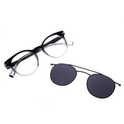 Armação Para Óculos De Grau Feminino Alok Chilli Beans Multi.Tech Fumê LV.MU.0329-0520