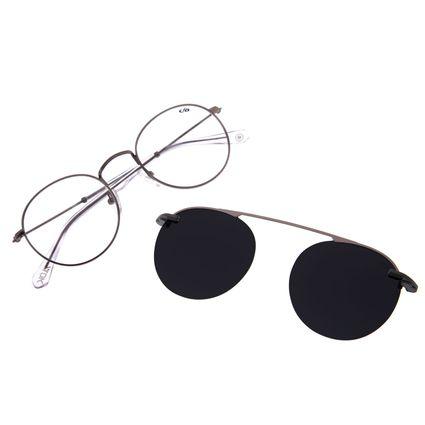 Armação Para Óculos de Grau Unissex Alok Chilli Beans Polarizado Cinza Escuro LV.MU.0328-0428