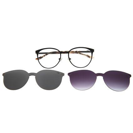 Armação Para Óculos De Grau Feminino Chilli Beans Multi Em Dobro Preto LV.MU.0271-0101