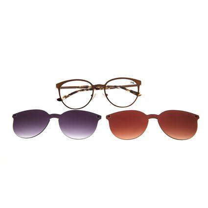 Armação Para Óculos De Grau Feminino Chilli Beans Multi Em Dobro Roxo LV.MU.0271-1431