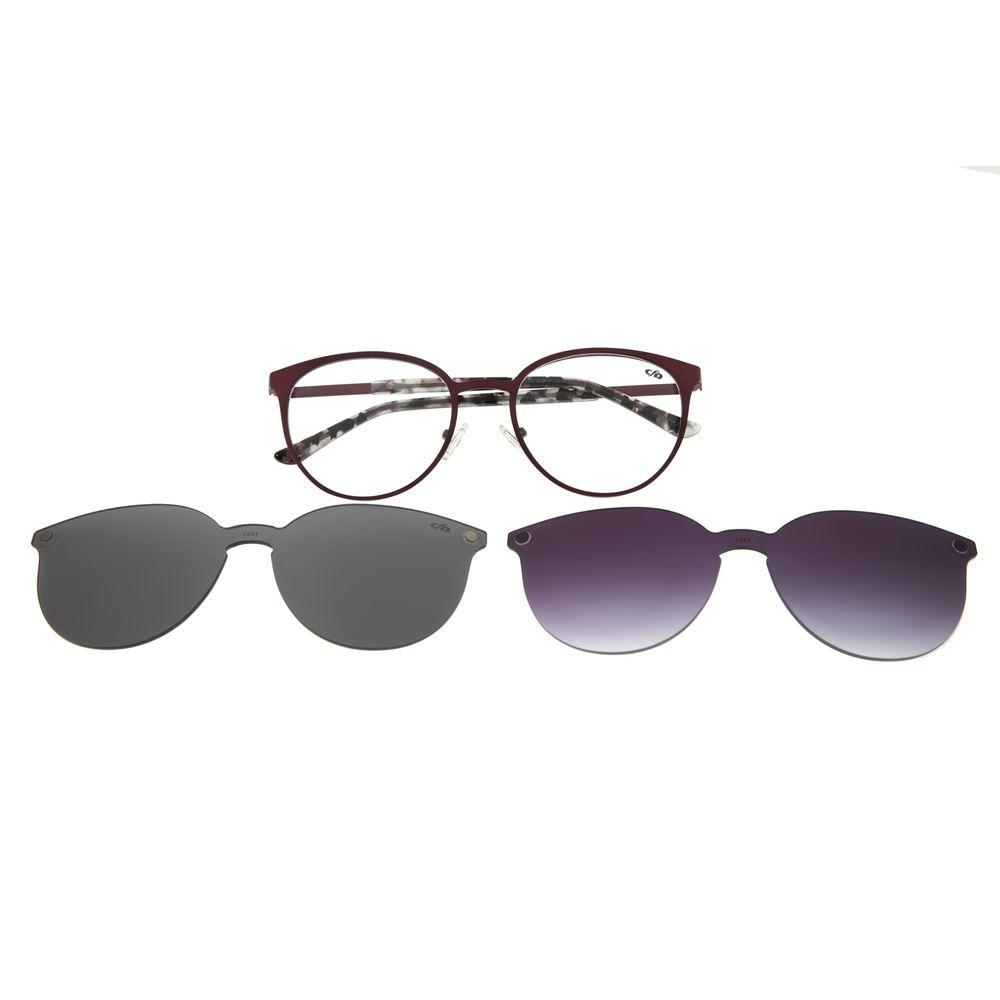 Armação Para Óculos De Grau Feminino Chilli Beans Multi Em Dobro Bronze LV.MU.0271-7931