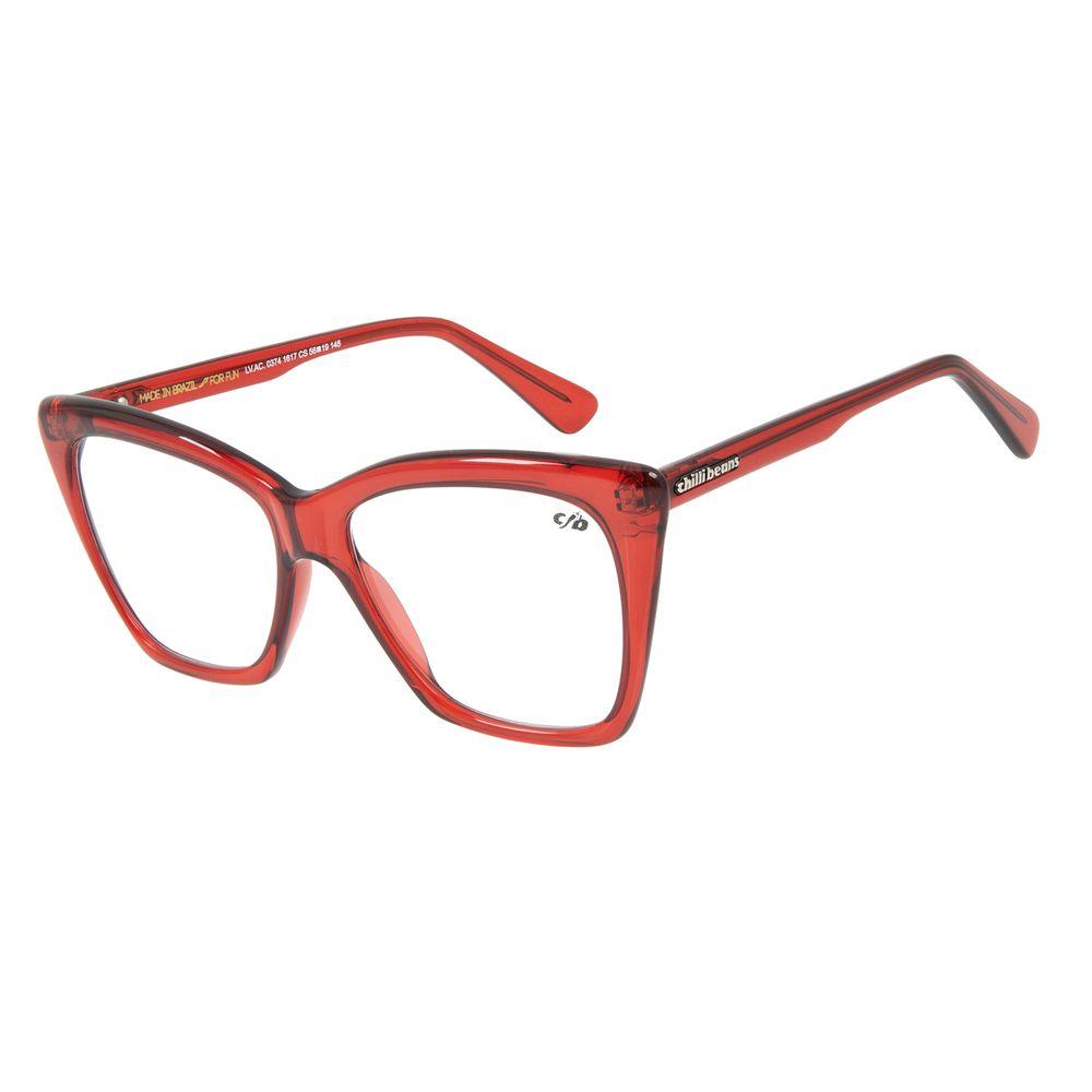Armação Para Óculos de Grau Chilli Beans Gatinho Vermelho LV.AC.0374-1617