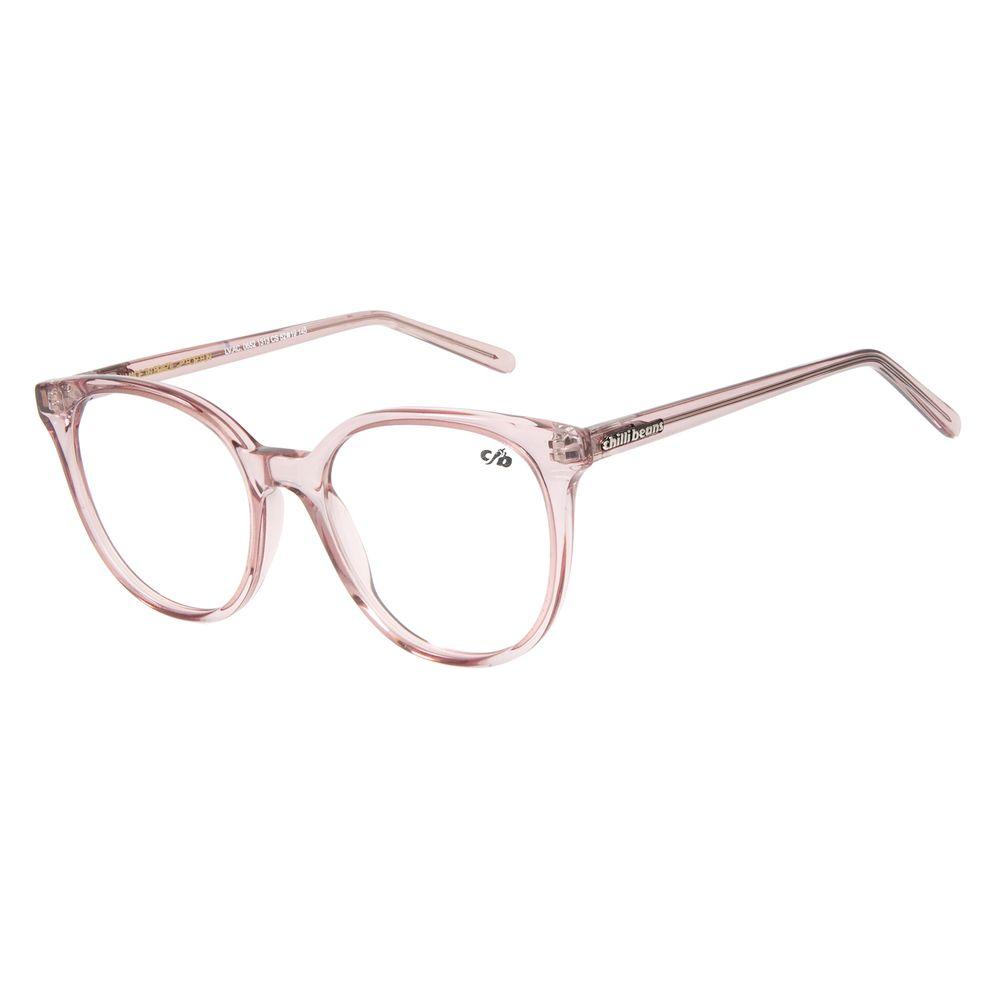 Armação Para Óculos De Grau Chilli Beans Cristal Rosa Transparente LV.AC.0652-1313