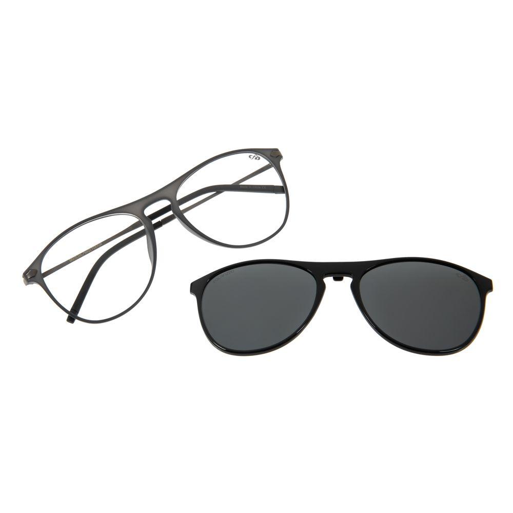 Armação Para Óculos de Grau Masculino Multi Aviador Polarizado Azul Escuro LV.MU.0263-0490