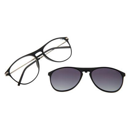 Armação Para Óculos de Grau Masculino Multi Aviador Polarizado Preto LV.MU.0263-0401