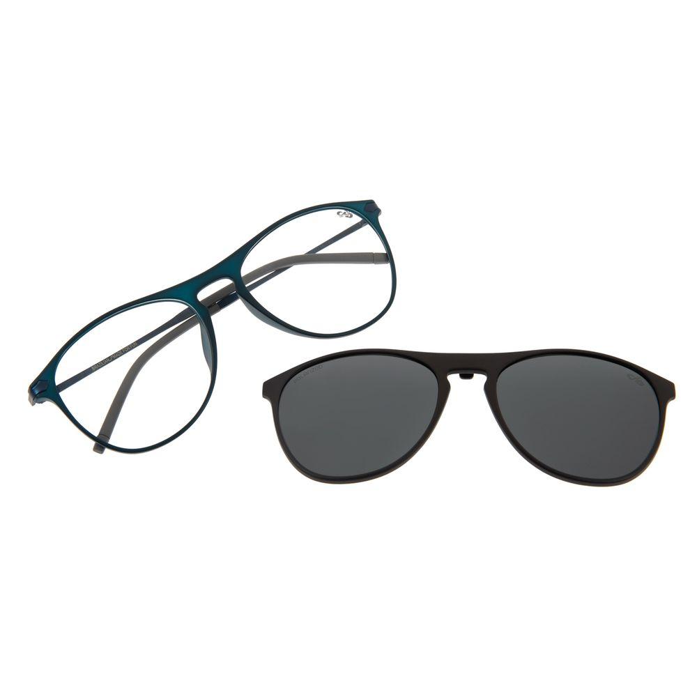 Armação Para Óculos de Grau Masculino Multi Aviador Polarizado Cinza Escuro LV.MU.0263-2028