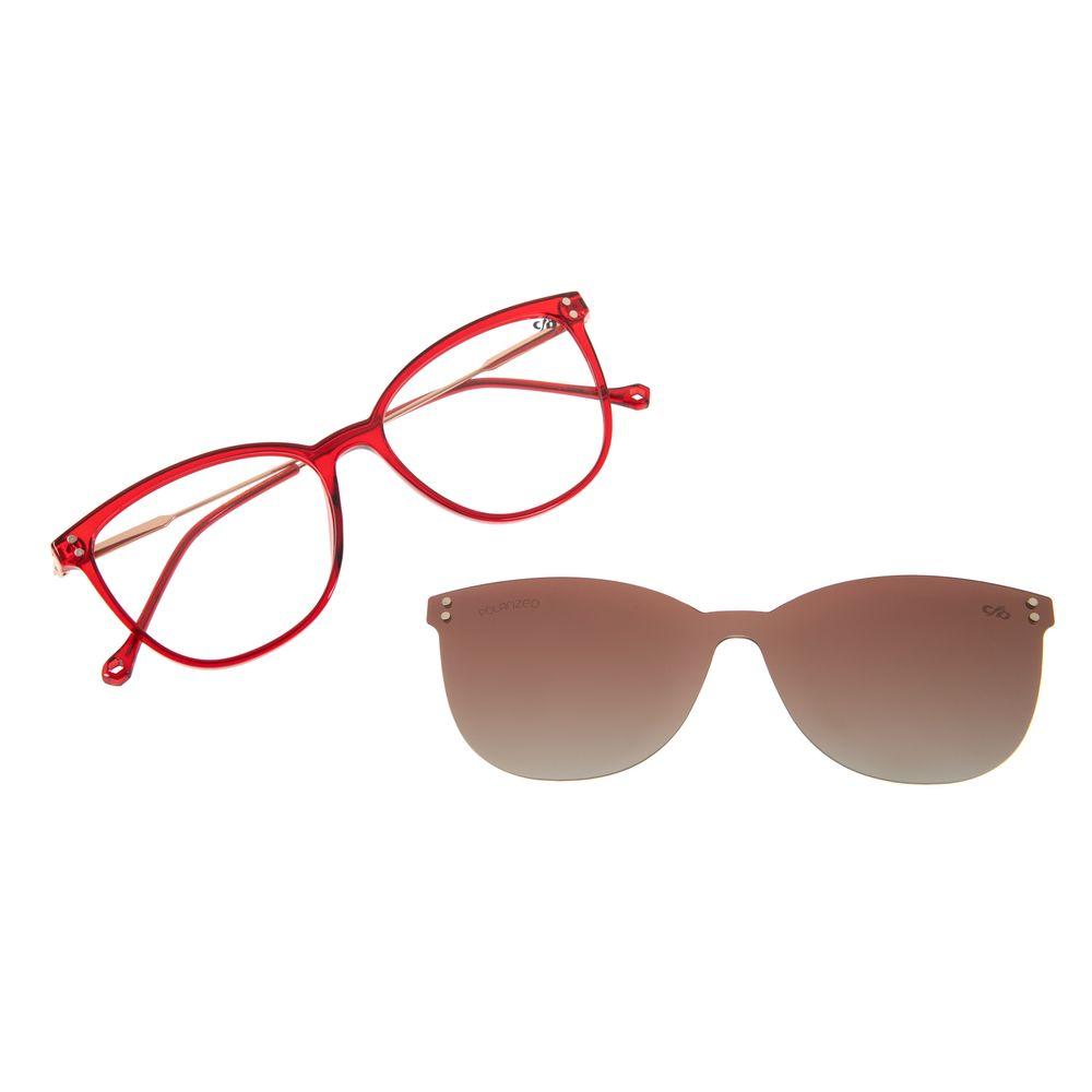 Armação Para Óculos de Grau Multi Feminino Chilli Beans Vermelho Polarizado LV.MU.0330-2016