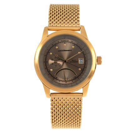 Relógio Analógico Masculino Chilli Beans Vintage Multi Moviment Dourado RE.MT.0970-0221