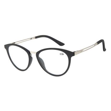 Armação Para Óculos de Grau Feminino Chilli Beans Gatinho Prata LV.IJ.0160-0107