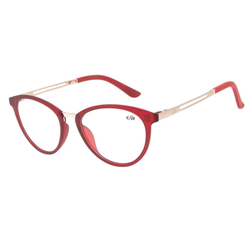 Armação Para Óculos de Grau Feminino Chilli Beans Gatinho Vinho LV.IJ.0160-1721
