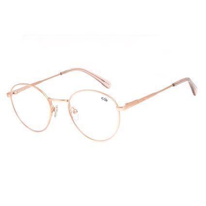 Armação Para Óculos De Grau Unissex Chilli Beans Redondo Metal Rosê LV.MT.0328-9595