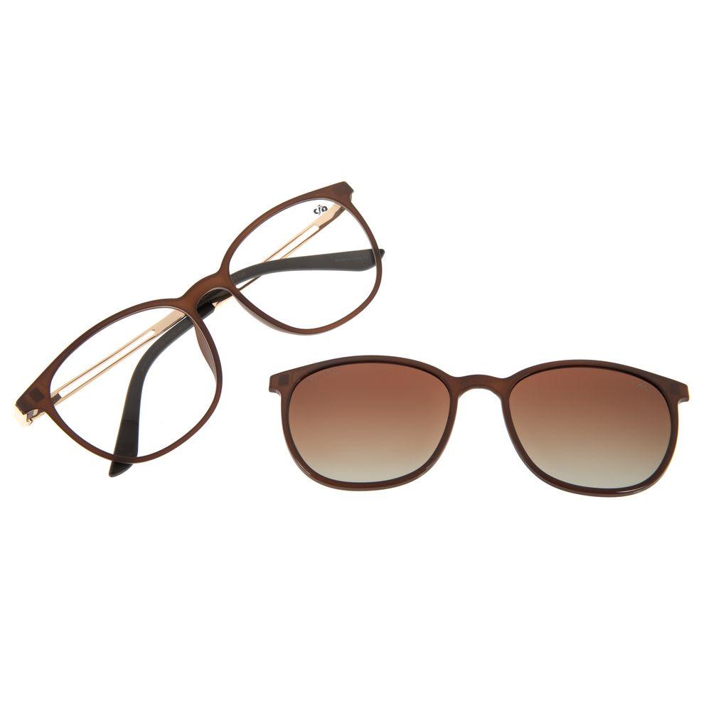 Armação Para Óculos de Grau Feminino Chilli Beans Multi Marrom Polarizado LV.MU.0187-5702