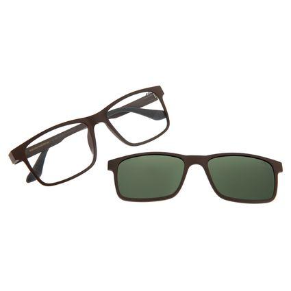 Armação Para Óculos De Grau Masculino Chilli Beans Multi Polarizado Marrom LV.MU.0213-1502