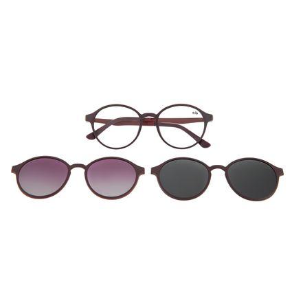Armação Para Óculos de Grau Unissex Chilli Beans Multi Polarizado Roxo LV.MU.0355-0114