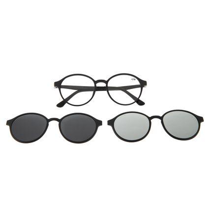 Armação para Óculos de Grau Unissex Multi Polarizado Preto LV.MU.0355-0101