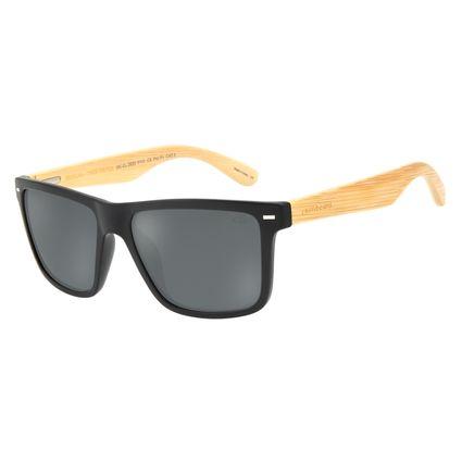 Óculos de Sol Masculino Chilli Beans Esportivo Bamboo Fosco Polarizado OC.CL.2620-0131