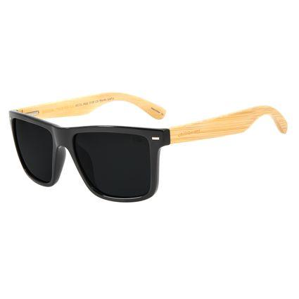 Óculos de Sol Masculino Chilli Beans Esportivo Bamboo Escuro Polarizado OC.CL.2620-0138