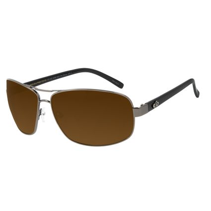 Óculos de Sol Masculino Chilli Beans Executivo Marrom Polarizado OC.MT.2799-0201