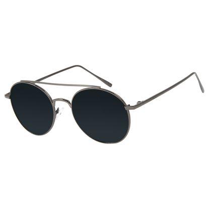 Óculos de Sol Unissex Chilli Beans Redondo Ônix Polarizado OC.MT.2811-0122