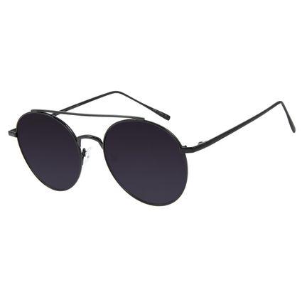 Óculos de Sol Unissex Chilli Beans Redondo Preto Polarizado OC.MT.2811-2001