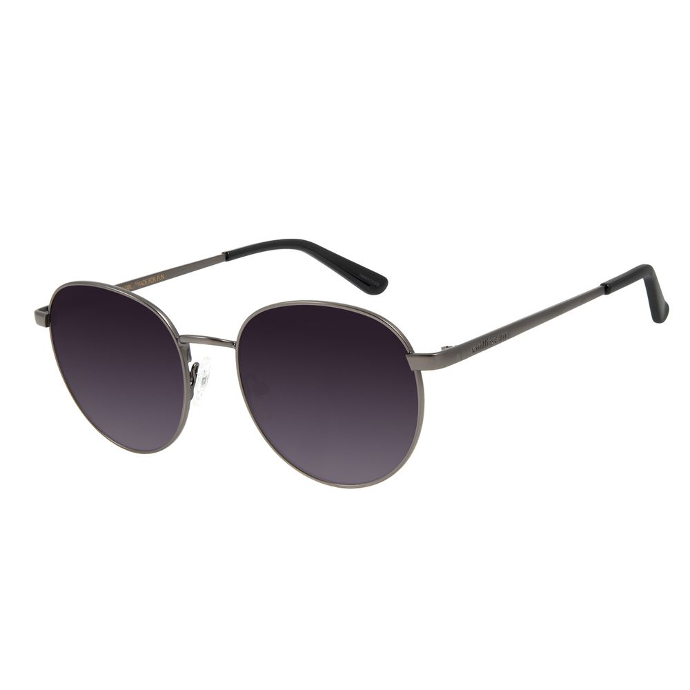 Óculos de Sol Unissex Chilli Beans Essential Redondo Ônix Metal OC.MT.2825-2022