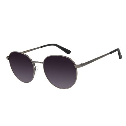 Óculos de Sol Unissex Chilli Beans Redondo Ônix Metal OC.MT.2825-2022