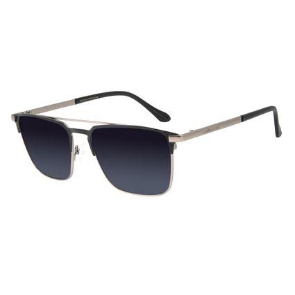 Óculos de Sol Unissex Chilli Beans Executivo Metal Fosco Prata OC.MT.2837-2007