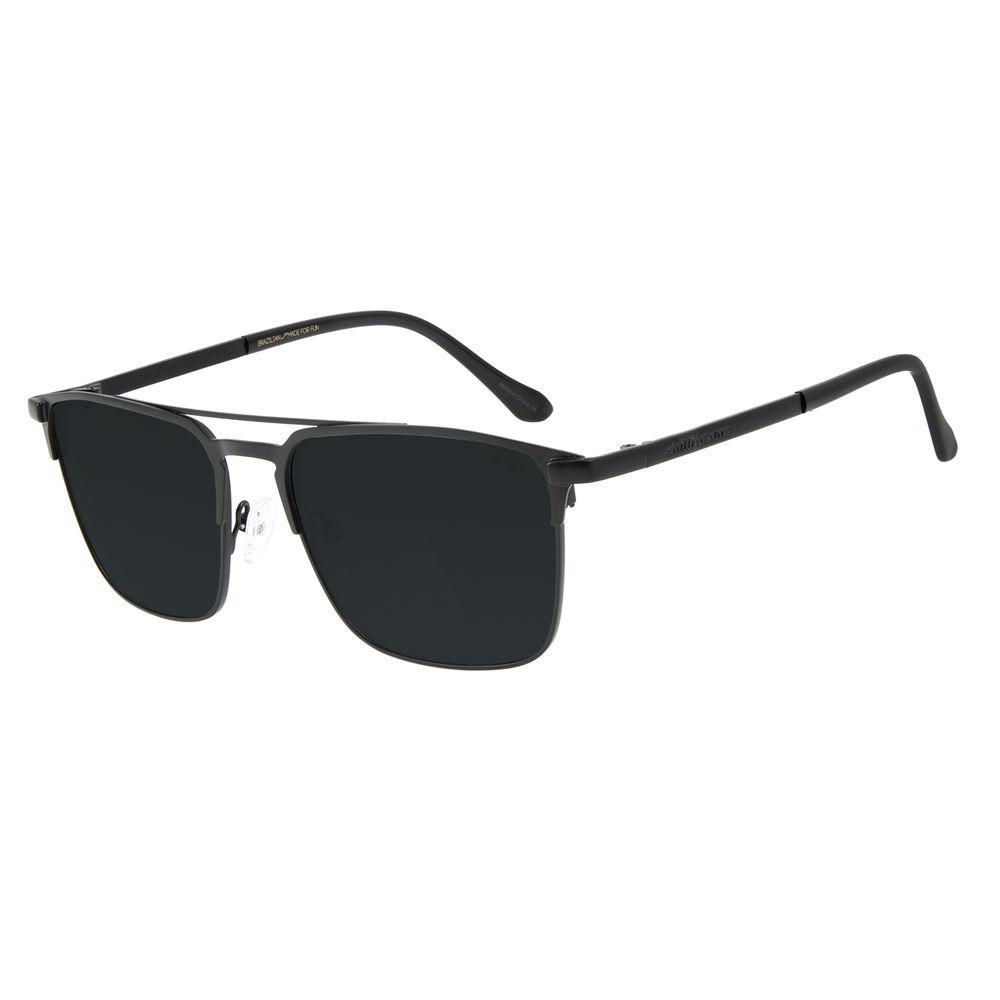 Óculos de Sol Unissex Chilli Beans Execuivo Metal Fosco Preto OC.MT.2837-0101