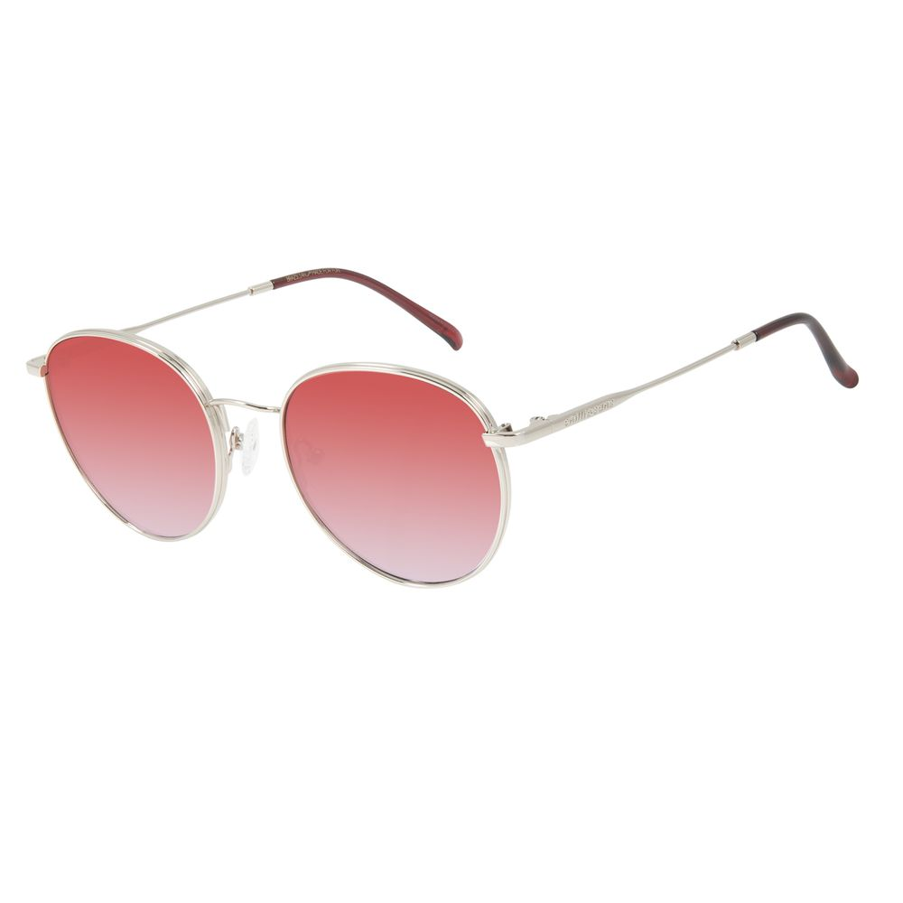 Óculos de Sol Feminino Chilli Beans Redondo Metal Prata OC.MT.2842-8007