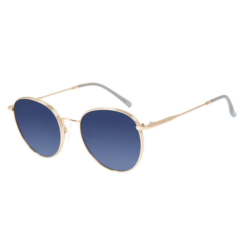 Óculos de Sol Feminino Chilli Beans Redondo Metal Dourado OC.MT.2842-8021