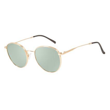 Óculos de Sol Feminino Chilli Beans Redondo Metal Dourado Claro OC.MT.2842-8064
