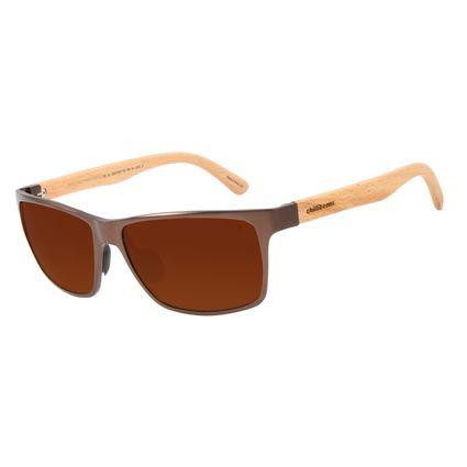 Óculos de Sol Masculino Chilli Beans Esportivo Alumínio Marrom Escuro Polarizado OC.AL.0240-0247