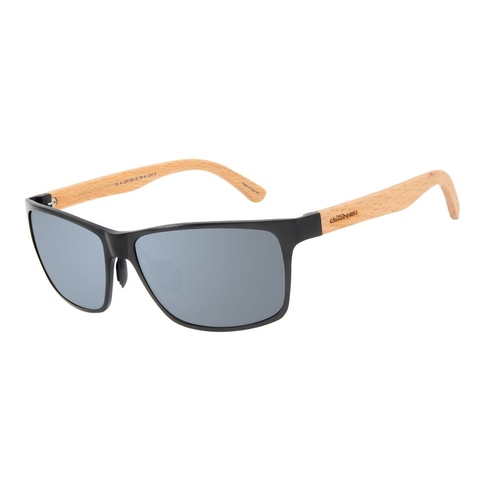 Óculos de Sol Masculino Chilli Beans Esportivo Alumínio Flash Polarizado OC.AL.0240-0001