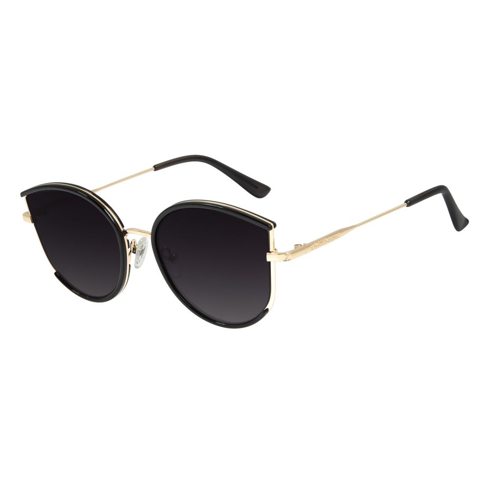 Óculos de Sol Feminino Lollapalooza Gatinho Preto OC.CL.2986-2001