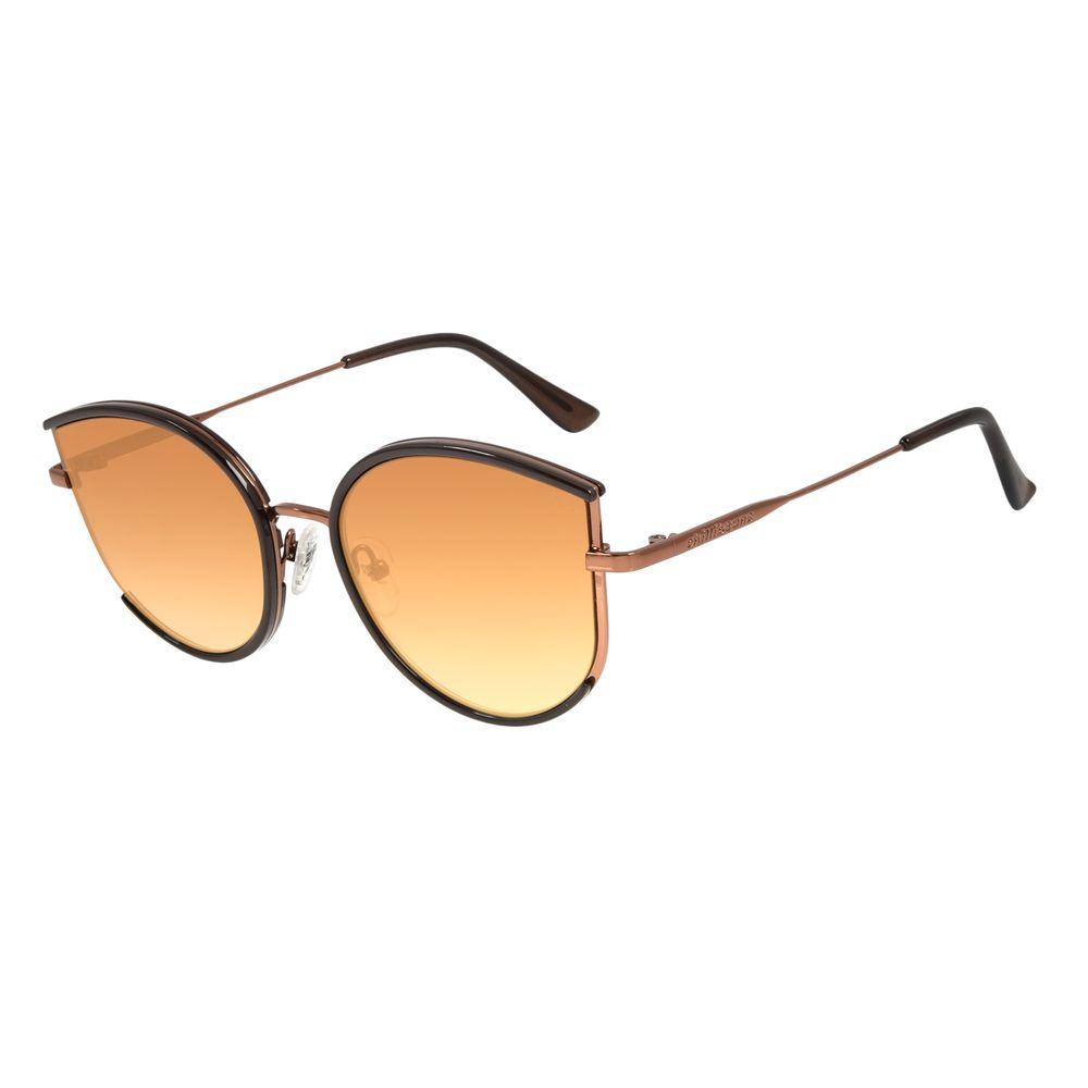 Óculos de Sol Feminino Lollapalooza Gatinho Degradê Marrom OC.CL.2986-5701