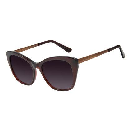 Óculos de Sol Feminino Chilli Beans Quadrado Polarizado Marrom OC.CL.3009-5702
