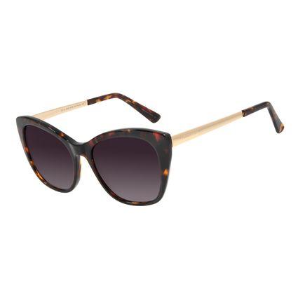Óculos de Sol Feminino Chilli Beans Quadrado Polarizado Tartaruga OC.CL.3009-5706
