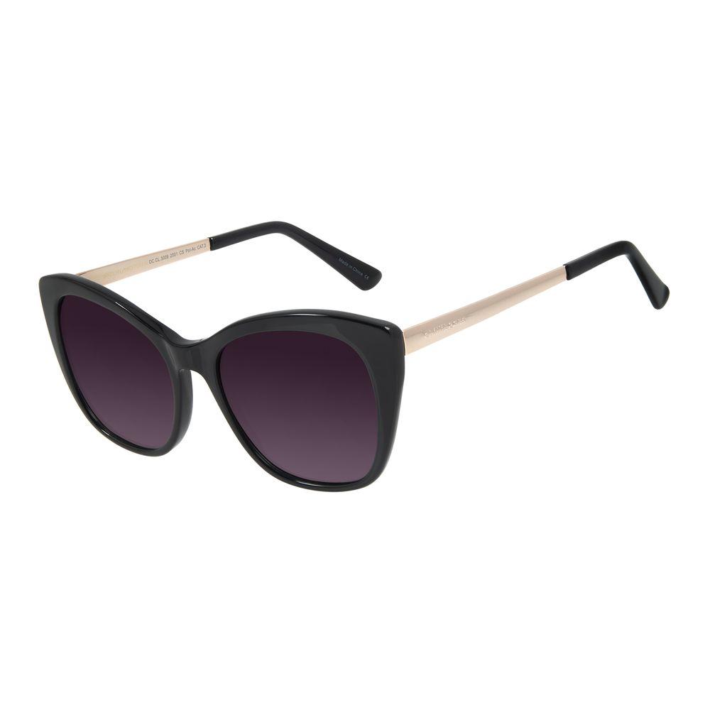 Óculos de Sol Feminino Chilli Beans Quadrado Polarizado Preto OC.CL.3009-2001